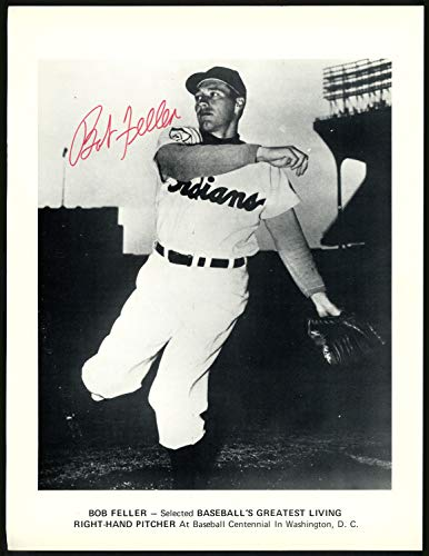 Bob Feller Autographed Signed Memorabilia 8.5X11 Magazine Page Photo Cleveland Indians 151522 - Certified Authentic