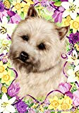 "Cheap Cairn Terrier Wheat by Tamara Burnett Easter Flowers Garden Dog Breed Flag 12"" x 18″"