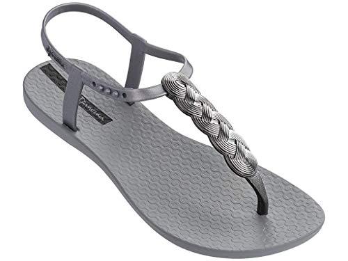 Ipanema Braid Women's Sandals, Gray/Silver (7 US)]()
