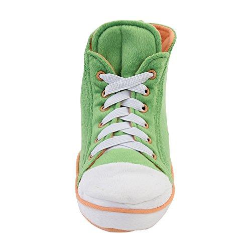 Gohom Women's Christmas Warm Winter Indoor Slipper Boots House Green&Orange REEl2Zyy