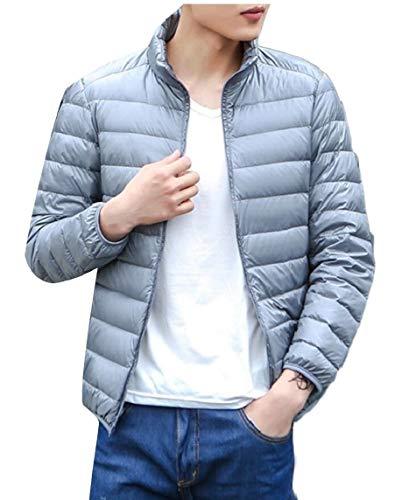 Jacket Men's Lightweight Outwear Packable Coat Gery Ultra TTYLLMAO Down xO4qwCRBx1