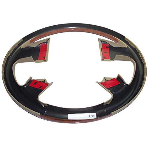 Black Leather Wood Steering Wheel Cover for 2004-2008 Ford F150 FX4 Lincoln Mark