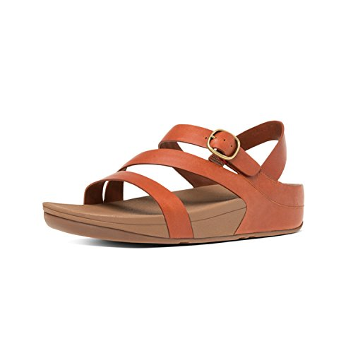 Cross 277 Leather Bianco Bout Z Dark Tan Ouvert The Femme TM FitFlop Skinny Sandales Marron RwIOc6q