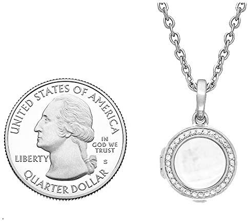 With You Lockets-Fine Sterling Silver-Custom Photo Locket Necklace-That Holds Pictures for Women-The Mickey
