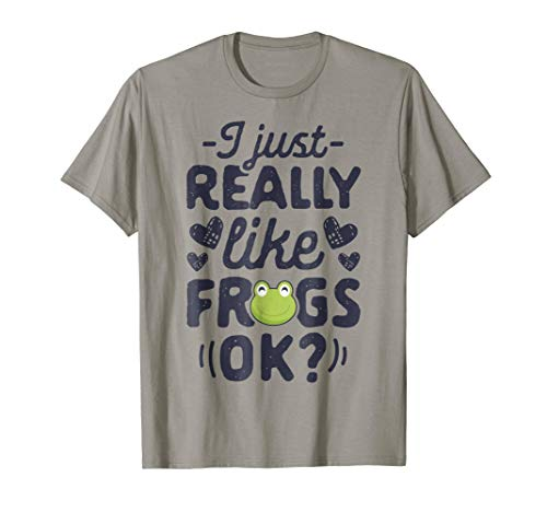 I Just Really Like Frogs OK T shirt Frog Kids Boys Funny Tee