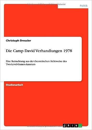 Book Die Camp David Verhandlungen 1978 by Christoph Dressler (2013-07-30)