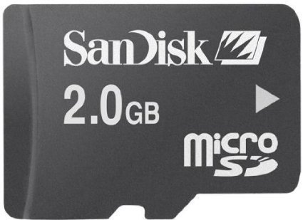 (SanDisk 2GB microSD Memory Card with Adapter)
