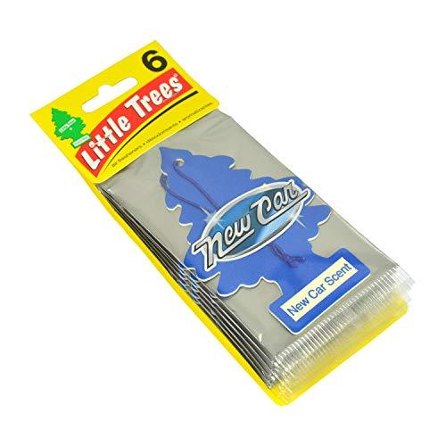 Little Trees 6 Air Freshener (New Car Scent), 6 Pack