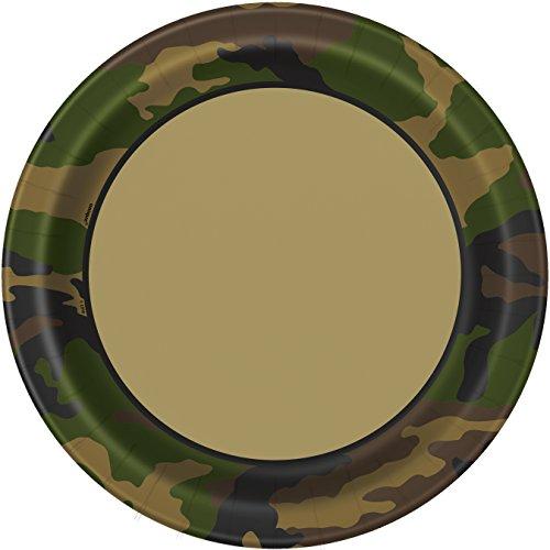 Military Camo Dinner Plates, 8ct