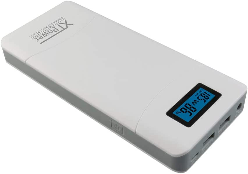XTPower® XT-16000QC3 Powerbank - High Performance USB e DC Batteria con 15600mAh - 1x USB 2.1, 1x USB QC3 e uscita DC 12V 15V 16.5V 19V 20V 24V 65W MAX.