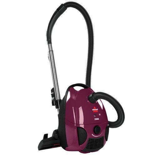BISSELL Zing Bagged Canister Vacuum, Purple, 4122, New