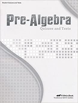 Pre-Algebra Quizzes and Tests / Grade 8 Traditional Math Series: A