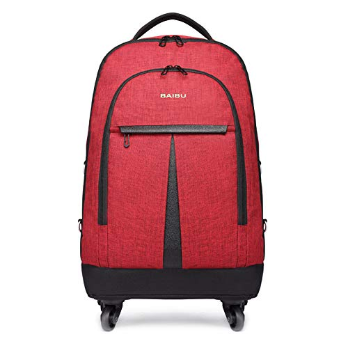 BAIBU 大容量 旅行用車輪付けバック 男女兼用 PCリュック バッグ 軽量 メンズ レディース 防水リュックサック 多機能のポケット 出張 旅行 通勤 通学 アウトドア適用 iPad タブレット収納 15.6インチのパソコン対応できる大きい容量   B07GFJLND3