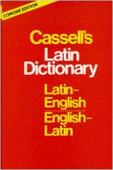 Descargar Libros En Ingles Cassell's Concise Latin-english, English-latin Dictionary Como PDF