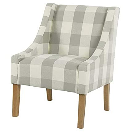 Amazon.com: Hebel Modern Swoop Check Accent Chair | Model ...