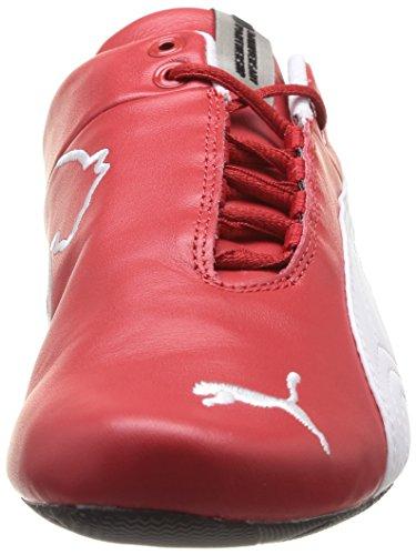 Puma Future Cat Leather SF -10- - Zapatilla Deportiva De Cuero Unisex Blanco (Rosso/White)