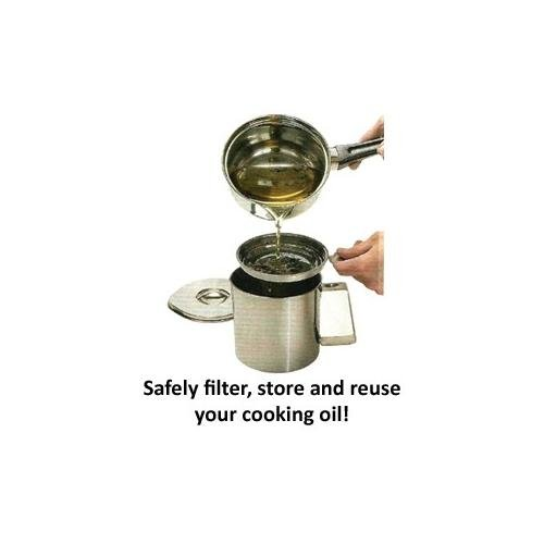 COOKING OIL STRAINER AND CONTAINER SET. Safely Filter Store And Reuse Your Cooking  Oil: Amazon.co.uk: Health U0026 Personal Care