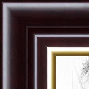 ArtToFrames 14x18 /  14  x  18 Picture Frame Dark Cherry with Gold Lip ..  1.5'' wide (WOMMXS268253)