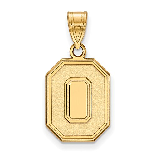 Roy Rose Jewelry 14K Yellow Gold LogoArt Ohio State University Medium Pendant - Ohio State University Seal Pendant