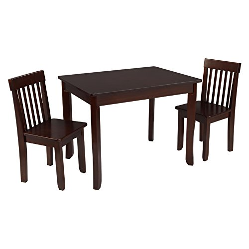 KidKraft Avalon Table II & 2 Chairs Set, Espresso