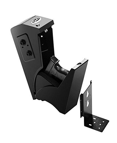 GOJOOASIS Gun Safe Quick Access Under Desk Pistol Security Handgun Storage Box with Keypad and 2 Backup Keys