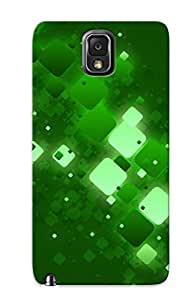 Slim Fit Tpu Protector Shock Absorbent Bumper Green Squares Case For Galaxy Note 3