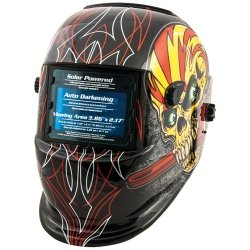 TITAN Auto Darkening Welding Helmet - Skull & Pipewrench