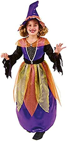 Cesar D309-002 - Disfraz de bruja hechicera para niña (6 años ...