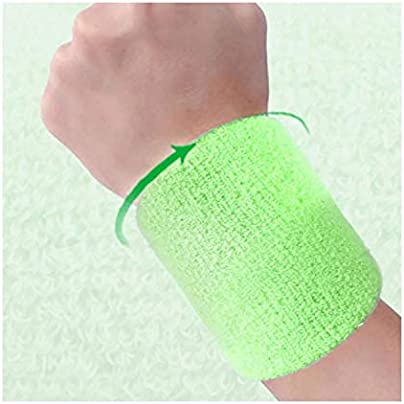 Wristbands Sport Sweatband Hand Band Sweat Wrist Support Brace Wraps Guards For Gym Volleyball Basketball Sucking Cotton Estimated Price £8.29 -