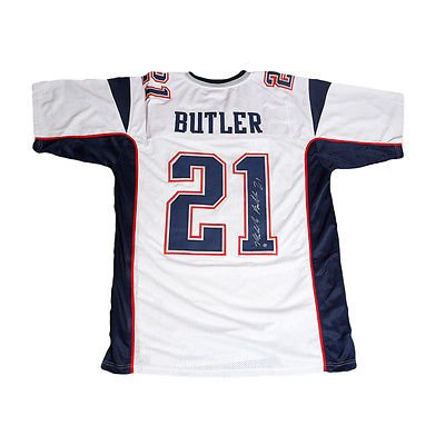 161f15cf0c4 Malcolm Butler New England Patriots Signed Autographed Away Jersey ...
