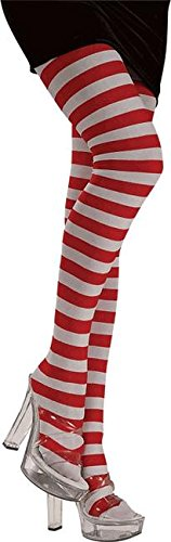 Rag Doll Striped Costumes (Ladies Red & White Striped Tights by Rubie's Costume Co. - One Size)