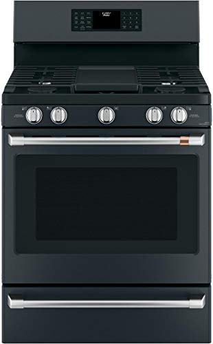 Ge Cafe CGB500P3MD1 Matte Collection Series 30 Inch Gas Freestanding Range in Matte Black