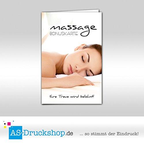 Bonuskarten Massage - Frau 250 Stück B07D3XZ3CM   Zarte