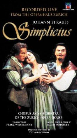 Johann Strauss – Simplicius / Welser-Most, Volle, Zysset, Zurich Opera House VHS