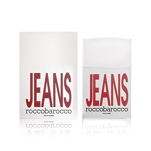 - Rocco Barocco Eau de Toilette Spray, Silver Jeans, 2.5 Ounce