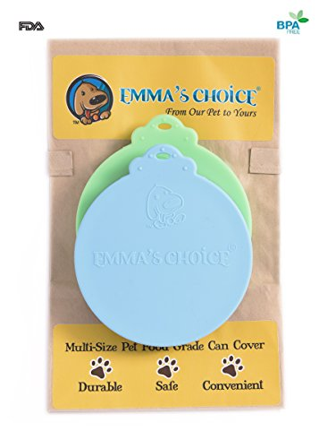 Emma's Choice | 2 Pack | Multi-Size FDA Approved Dog and Cat Food Can Covers | Fits 3 Sizes USA Standard Pet Lids