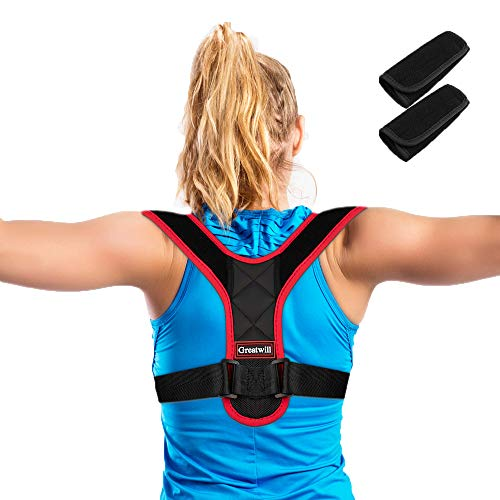 Greatwill Back Posture Corrector for Women & Men, Effective and Comfortable Posture Brace for Slouching & Hunching, Relieve Pain, Adjustable Size