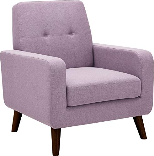 Dazone Accent Chair, Modern Arm Chair Upholstered Fabric Single Sofa Comfy Chair Living Room Furniture Purple