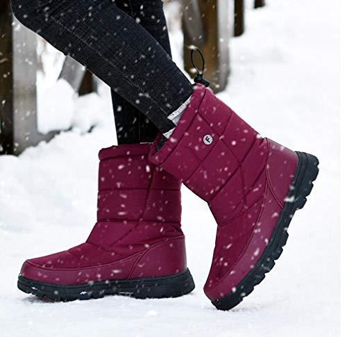 Sport Hy Stivali Unisex colore Invernali Antivento 44 Neve Da Dimensione Plus Sci Nero Amanti Scarponi Caldo All'aperto Scarpe Rosso Velluto Inverno Esercizio vrTfSWq6vw