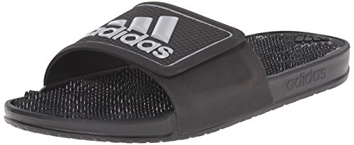 Adidas Performance Adissage 2.0 Logo Sandal,black/metallic Silver/black,5 M Us Black/Metallic Silver/Black
