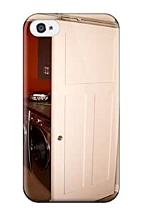 THYde Forever Collectibles Sliding White Barn Door Hides Laundry Room From Kitchen Hard Snap-on Iphone 4/4s Case ending