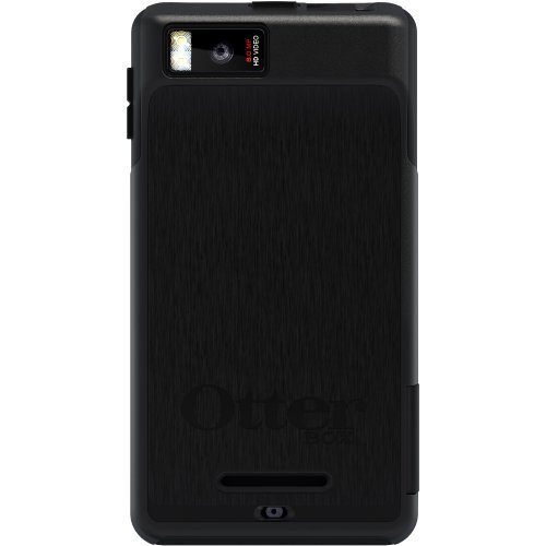 OtterBox Commuter Series Hybrid Case for Motorola DROID X 2 - 1 Pack - Retail Packaging - Black (Otter Box Phone Case For Droid X2)