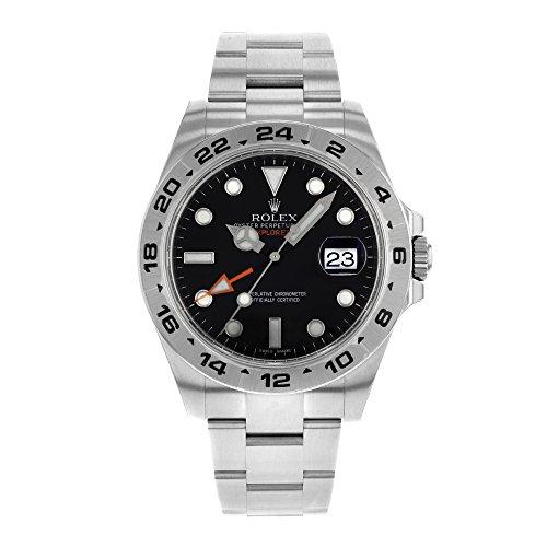 Rolex-Explorer-II-216570-BK-Acero-Inoxidable-automtico-reloj-para-hombre