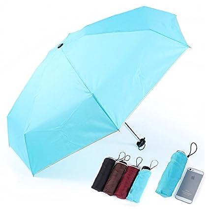 El mini ultra ligera lluvia Shine contra los rayos UV Paraguas plegable de emergencia