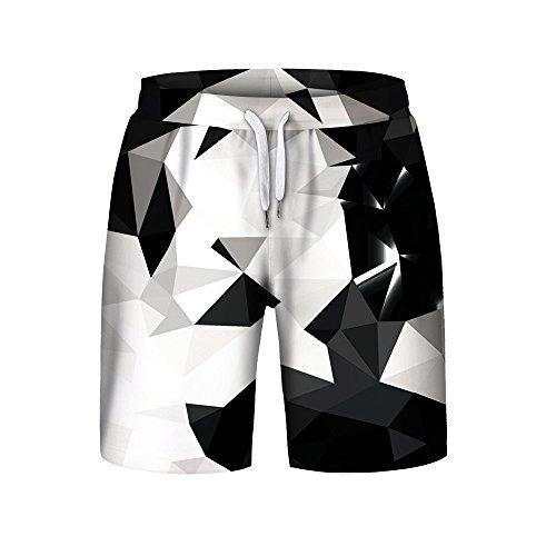 Men's 3D Printed Beach Shorts Pants Swim Trunks Drawstring Elastic Waist Surfing Beach Board Shorts Quick Dry Cool Swimtrunks