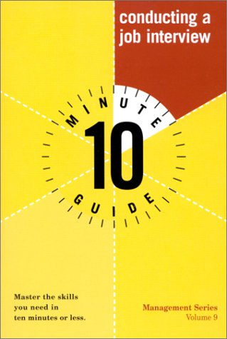 Ten Minute Guide to Conducting a Job Interview ebook