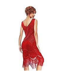 Uniq Sense xs-3xl Women's Vintage Roaring 20s Gatsby Dresses