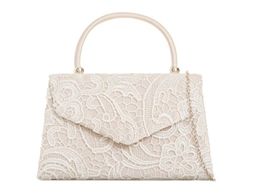 Handbag Clutch Evening s Cross Women's Champagne Lace Wedding Body Top LeahWard Bags Purser Bag qwRA0zEnPx