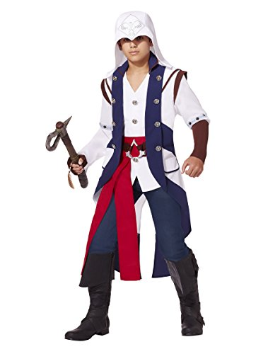 (Spirit Halloween Teen Connor Costume - Assassin's Creed, M 8-10, White, M 8-10,)