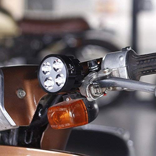 Moto Eclairage avant 1 Paire Moto LED Phare 8-85V 6500K Imperm/éable Super Brillant Scooters Actif Projecteur Radoub Phare Moto Phare Anti-brouillard